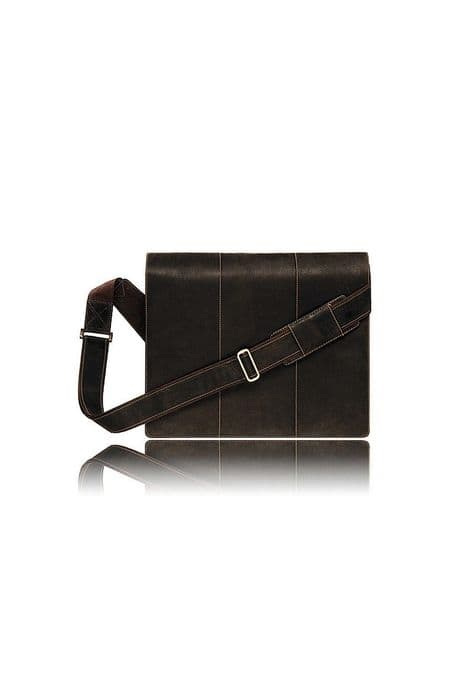 Leather Messenger Bag in Brown:Mucho